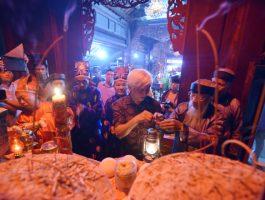 Lễ xin lửa thiêng, cầu an, cầu phúc đúc tượng vàng Thánh Gióng